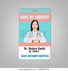 Doctors Id Card House Vector Photo Free Trial Bigstock
