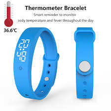 V9 <b>Smart Temperature Measurement Bracelet</b> Waterproof Intelligent ...