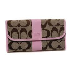 Bargain Price Coach Legacy In Signature Large Pink Wallets K9673