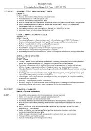 Clinical Administrator Resume Samples Velvet Jobs