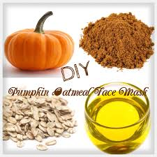 diy pumpkin oatmeal mask
