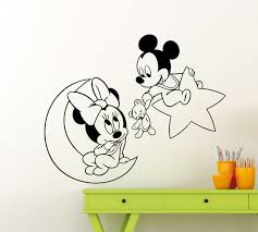 mickey minnie mouse wall sticker moon