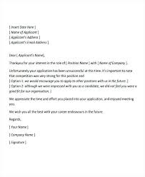 Application Rejection Letter Template 9 Professional Rejection
