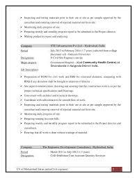 Cv Of Mohammed Imran Pasha Civil Engineer 2 Inspecting