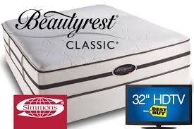 Simmons Beautyrest Classic Alisa with 32 TV or Kindle Fire Collection