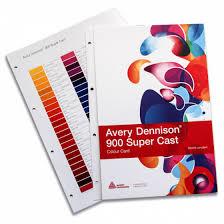 Avery 900 Supercast Colour Chart Avery 900 Colour Card