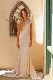 agnes cap sleeve lace wedding dress simple wedding dresses