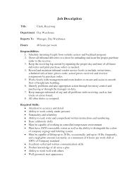 ... cover letter Cover Letter Template For Receiving Manager Job Description  Warehouse Supervisor Resume Clerk Wowarehouse stocker