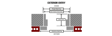 entry door size selecting your exterior doors at the home depot