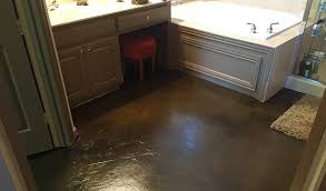 stained concrete floor basement.  Stained Stained Concrete Bathroom Floor In Walnut To Basement E