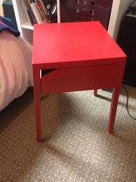 red bedside table. Contemporary Red Red Ikea SELJE Bedside Table On Bedside Table E