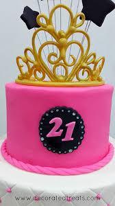 Pink Starry 21st Birthday Cake