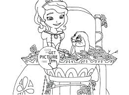 Sofia The First Coloring Page The First Coloring Pages Junior