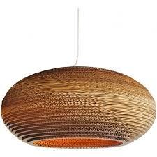 disc recycled slight ceiling pendant light large