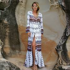boho chic dresses boho clothing summer maxi dress boho mexican embroidered dress side nn0210 yw