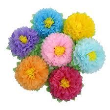 Tissue Paper Flower Decor Amazon Com Mybbshower Large Rainbow Tissue Paper Flower Birthday
