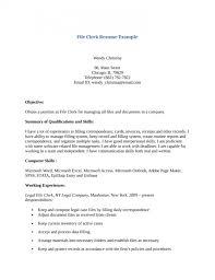 File Clerk Resume Template Stunning Get File Clerk Resume Template Resume Builder Wwwtrainedbychamps