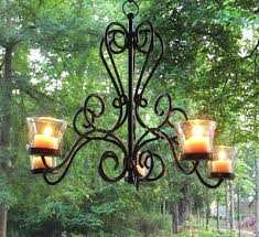 chandelier outdoor candle even a traditional wrought iron chandelier can be an outdoor lighting source this chandelier outdoor