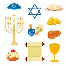Traditional Symbols Judaism Church Traditional Symbols Jewish Hanukkah Set Various