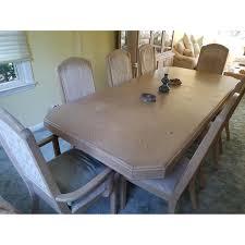 Seamans Furniture Whitewash 9 Piece Dining Set Aptdeco