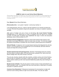 Letter To Board Of Directors Sample Sample Letter To Local School Board Members Personalize This