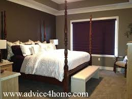 suite with purple blinds and charcoal wall with mushroom burbur