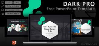 Free Modern Templates Dark Pro Modern Powerpoint Template