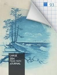 Large Zen Magic Math Journal Yoga Meditation Journal Notebook Xl