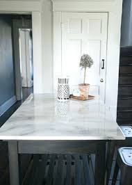 diy marble countertop painted faux marble table top
