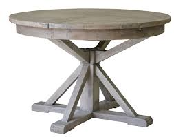 irish coast reclaimed round extension dining table african dusk