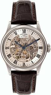 rotary men s gs02940 06 silver mechnical skeleton watch amazon co rotary men s gs02940 06 silver mechnical skeleton watch