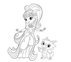 Shimmer And Shine Printable Colouring Pages Shimmer Shine Coloring