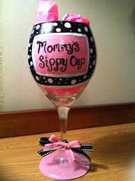 mommys sippy cup wine glass hand painted wine glass wine glass painted wine glass cup wine mommys sippy cup wine glass hallmark