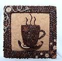 Картины из кофейных зерен фото для кухни