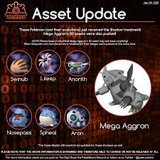 Announced Shadow Pokemon and Mega Aggron's 3D Assets Pushed - read the note  though!: TheSilphRoad