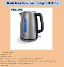 Bình Đun Siêu Tốc Philips HD9357 1.7 Lít