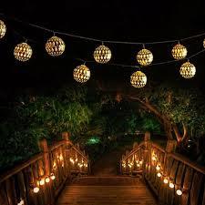 Moroccan Porch Light 5m 7m Moroccan Metal Ball 20 30 50 Led Solar String Light Outdoor Christmas Fairy Lamp Garden Decor