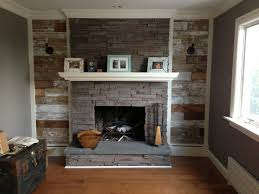 fireplace with reclaimed wood