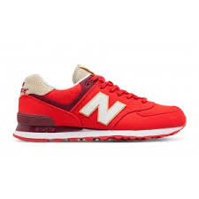 new balance shoes red and blue. new balance 574 retro surf men\u0027s classic shoes - red with white and blue