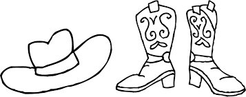 Cowboy Boots Coloring Pages Free Free Coloring Books