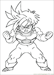 dragon ball z goku coloring sheets pages free c epic printable for your