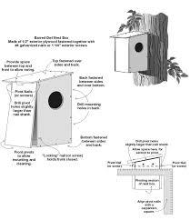 owl bird house plans pleasant 15 barred nest box plan