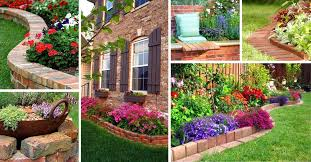 14 brick flower bed design ideas you