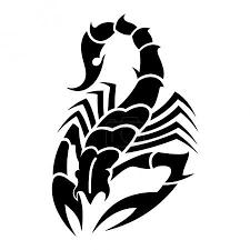 Vektor Tattoo černý škorpion S Odporné Pracky 3601389 Fotobanka
