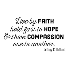 Quotes About Faith Cool Faith Hope Compassion Wall Quotes™ Decal WallQuotes