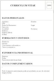 Curriculum Vitae Para Completar E Imprimir Argentina