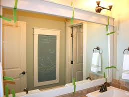 Bathroom Big Mirrors Wood Framed Bathroom Mirrors Home Decoration Ideas Big Bathroom