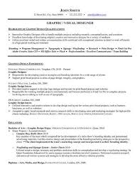 Graphic Design Resume Examples Lovely Sample Resume Graphic Design