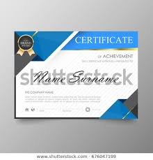 Award Paper Template Custom Certificate Premium Template Awards Diploma Background Stock Vector