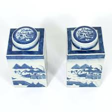 blue and white canisters pottery blue and white canisters kitchen